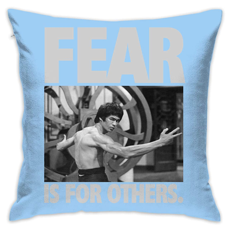 白内障対象フルーツFEAR IS FOR OTHERS Bruce Lee 抱き枕 クッション 座布団 柔らかい 低反発 オフィスにもピッタリ 中身:綿 ギフト プレゼント 45*45cm
