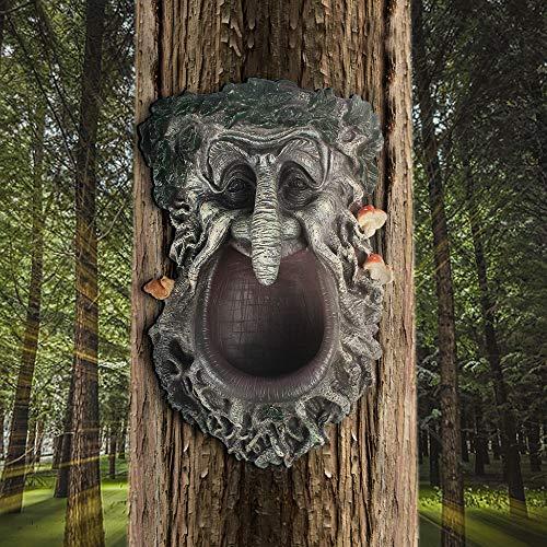 YLSMILE Tree Faces Decor Outdoor Green Man Head Planter Bird...