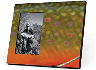 ChalkTalkSPORTS Fly Fishing Photo Frame | Brook Trout Without Label Picture Frame