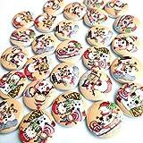 dfhdrtj Exuberante 50PCS Muñeco de Nieve Navidad Hebilla Bricolaje Manualidades Manualidades Hogar Patchwork Decorativo Variado 20mm Botones Costura Accesorios - Sección Un