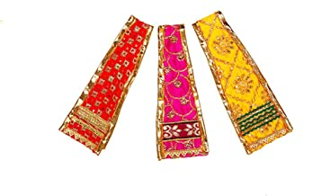 Blue Decorative Cloth Idol Dupatta Poshak Fabric Puja Chunari Pooja Chunar (Size :- 27 Inches x 7 Inches) Pooja Items Arti...