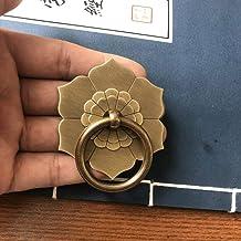 Vintage messing ring handvat klopper bloem wasmachine koperen lade trekt kast dressoir deurknoppen handgrepen Chinese meub...