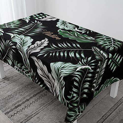 RUIXIANG Jungle Licht Eettafel Waterdichte Tafelkleed Plant Luipaard Patroon Tafelkleed Bureau Lange Theetafel Restaurant Dressing Tafelkleed