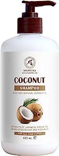 Champú de Coco 480 ml - con Aceite de Coco 100% Natural - Champú para Hidratación & Volumen - Sin Sulfatos ni Parabenos - ...