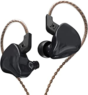 Headphones New HIFI Heavy Bass Earbud Monitor Sports Noise Cancellation Sports Running Sports Headphones (Color : Black)
