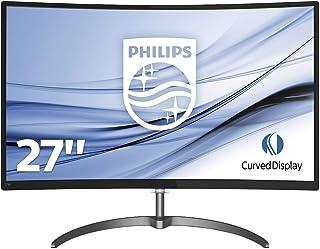 Philips Monitores 278E8QJAB / 00 E-line Monitor LCD curvo de 27 pulgadas con monitor Ultra Wide-Color Full HD (1920 x 1080...