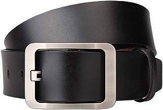 Fashion Belt Men's Leather Casual Youth Belt, Dress Black Jeans Belts Durable (Color : Coffee, Size : 150cm)