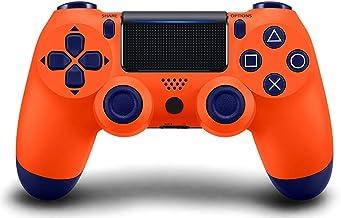 Petilleur PS4 Wireless Bluetooth Game Controller Ps4 Controller with Light bar (Orange Blue)