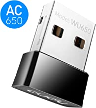 Cudy AC650 650Mbps WiFi Dongle, 433Mbps + 200Mbps USB wireless WiFi Adapter for PC with SoftAP Mode - Nano Size | Compatible with Windows XP/7/8/8.1/10, Mac OS 10.6~10.11 (WU650)