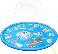 "Bestmaple Outside Party Sprinkler Splash Play Mat, 68"" Sprinkle and Splash Play Mat Pad Toy for Children Infants Toddlers Boys Girls and Kids"