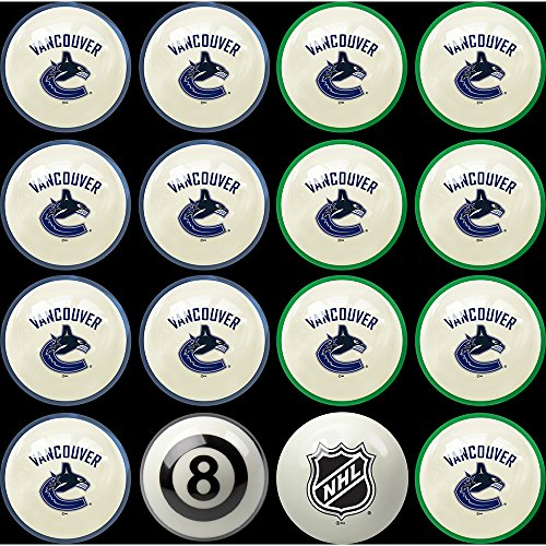 Imperial Officially Licensed NHL Merchandise: Home vs. Away Billiard/Pool Balls, Complete 16 Ball Set, Vancouver Canucks