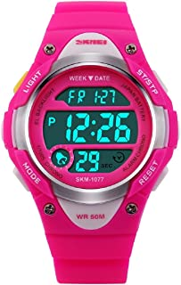 Watches,Kids Outdoors Waterproof Wristwatch,Multifunctional LED Digital Watch for Boys