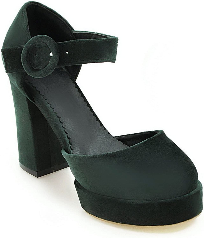 BalaMasa Womens Sandals High-Heel Nubuck Urethane Sandals ASL04838