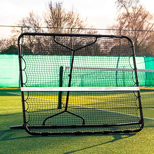 Net World Sports RapidFire Mega Tennis Rebounder | Groundstroke & Volleying Practice (Small Or Large) (Small (5ft x 6ft))