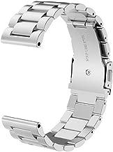 Kuxiu Compatible with Garmin Fenix 3 Replacement Watch Band, Stainless Steel Metal Wristband Bracelet for Fenix 3 / Fenix 3 HR/Fenix 5X Smart Watch (Silver)