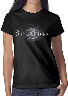 Women Supernatural-TV-Show- Cotton Blend Short Sleeve Tshirt