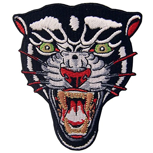 The Roaring Panther Patch Embroidered Applique Iron On Sew On Emblem
