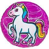 TE-Trend Magic Einhorn Regenbogen Unicorn Motiv Plüsch Kissen Zierkissen Kuschelkissen Kinder...