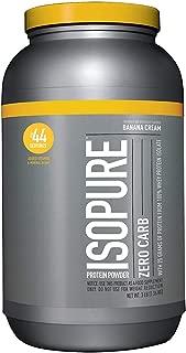 Isopure Zero Carb, Keto Friendly Protein Powder, 100% Whey Protein Isolate, Flavor: Banana Cream, 3 Pounds