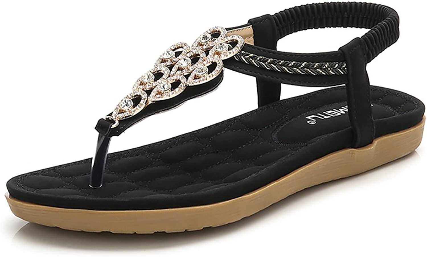Meeshine Women's Casual Slingback Summer Beach Thong Flat Sandal