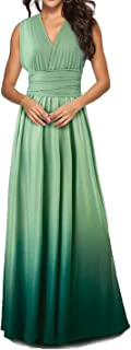 CHOiES record your inspired fashion Women's Infinity Gown Dress Multi-Way Strap Wrap Convertible Maxi Dress