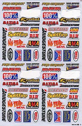Pegatinas / adhesivos de vinilo de patrocinadores, 1hoja, 270mm x 180mm resistente a la intemperie