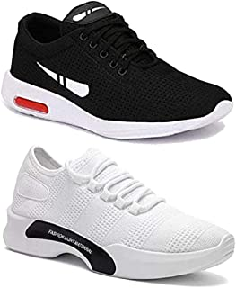 Shoefly Men Multicolour Latest Collection of Casual Sports Running Shoes-Pack of 2 (Combo-(2)-1200-9212)