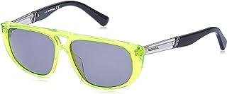 نظارات شمسية للجنسين من ديزل DL030693N54 - لون اخضر لامع/ اخضر - بلاستيك