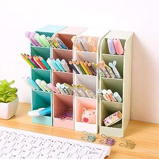 4 قطع حامل القلم مربع مكتب وعاء القلم حامل القلم رصاص مكتب منظم القلم تخزين للمكتب، المدرسة، اللوازم المنزلية