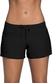 PANOZON Donna Piscina Accessori Pantaloni da Nuoto Costumi da Bagno Colore Nero Puro