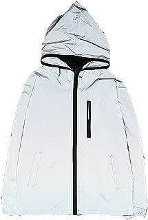 Men's Outwear 3M Reflective Zipper Hooded Windbreaker Lightweight Running Jacket