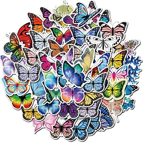 90 Stück Schmetterlinge Meeresschildkröten gemischte Aufkleber für Wasserflaschen, ästhetische, trendige VSCO-Aufkleber für Laptop, iPhone, iPad, Computer, Notebook