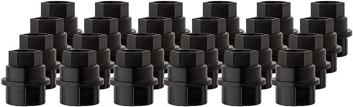 DPAccessories CC-4D-P-OBK05024 24 New Black Plastic Wheel Lug Nut Caps - Replaces GM 15646250 / Dorman 99956 Wheel Lug Nut Cap