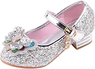 Sinwasd Sandals Toddler Infant Kids Baby Girls Pearl Bling Sequins Princess Shoes Summer Sandals 1-12 Years