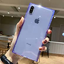 iPhone Xs Max Case Square,Facweek Clear Xmax Cases Reinforced Corners Soft TPU Cushion Ultra-Thin Slim Cover Silicone Shel...