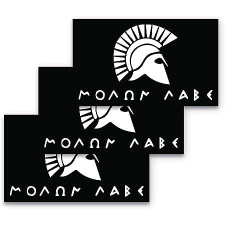 """Molon Labe Autocollant assaut Vie Large 13/"""" Decal come and take Molan D 643 *"""