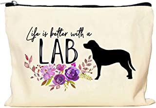 Lab Retriever Life is Better Makeup Bag