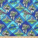 Disney Pixar Buzz Lightyear Flannel Multi Fabric by the Yard