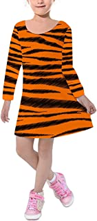 Rainbow Rules Tigger Stripes Winnie The Pooh Inspired Kids Velvet Winter Dress