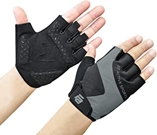 Fit Active Max Grip Weightlifting Workout Gloves | Strongest Grip, Leather Palm for Callus, Blister Prevention | Lightweight, Breathable, Non Slip | Powerlifting, Fitness Training, Biking & More