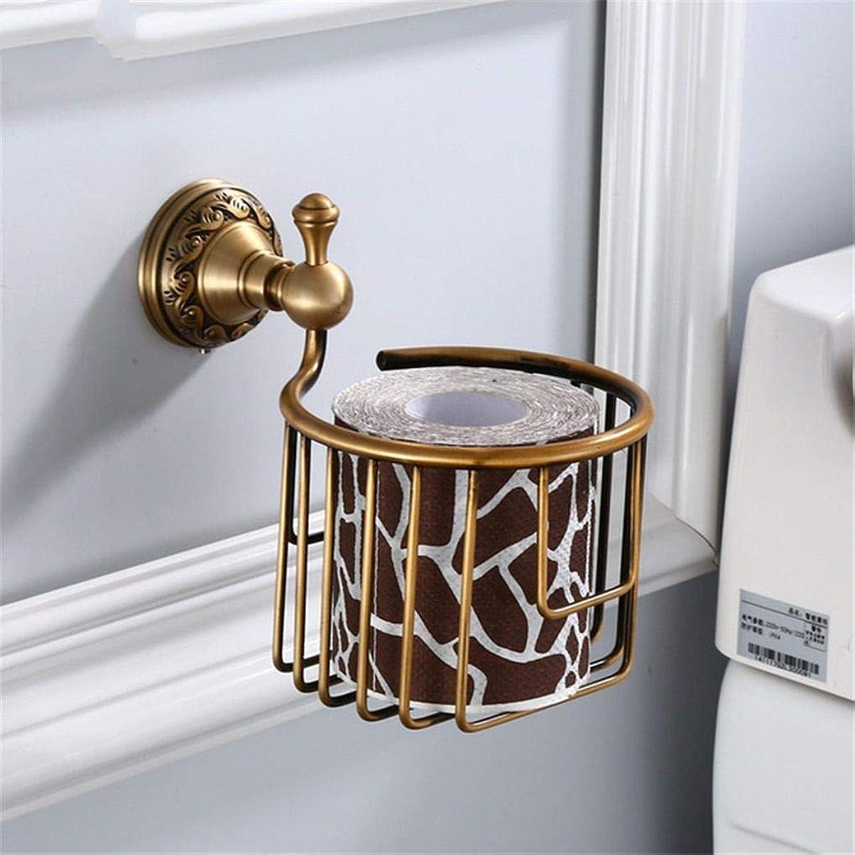 正当な嫌な機知に富んだヨーロッパのアンティーク真鍮彫刻タオルラックスペースアルミ浴室の棚紙箱壁掛けタオルバー浴室のハードウェアペンダントセットレトロスタイル、トイレットペーパーホルダー