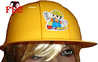 BUILDERS YELLOW CHILDS PLASTIC HAT JUST LIKE BOBS
