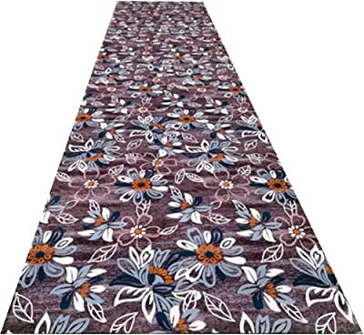 YANZHEN Hallway Runner Rugs Soft Non-Slip Easy to Clean Blended Fabric 3 Styles, Thickness 6mm, Length Customization (Color : B, Size : 1 x 2m)