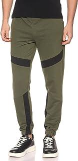 Off Cliff Plain Side Pocket Contrast Panel Sweatpants for Men