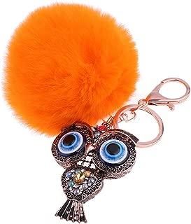 Prettyia Owl Key Ring Chain, Handmade Key Holder Metal Chain Charm, Handbag Accessories, Purse Pendant, Fashion