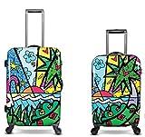 Equipaje, Maletas y Bolsas de Viaje - Premium Designer Maleta Rígida Set 2 Piezas - Heys Artista Britto Palm Equipaje...