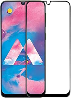 Samsung Galaxy M30 Full Glue 5D Full Edge-to-Edge Screen Protection Tempered Glass for Samsung Galaxy M30 -Clear Black