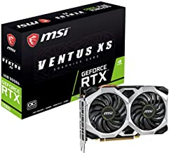MSI Gaming GeForce RTX 2060 6GB GDRR6 192-bit HDMI/DP Ray Tracing Turing Architecture VR Ready Graphics Card (RTX 2060 VENTUS XS 6G OC)