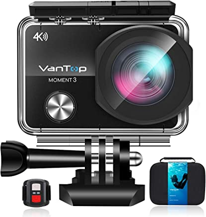 VanTop 4K WiFi Action Camera w/ 32GB TF Card, 16MP Sony...