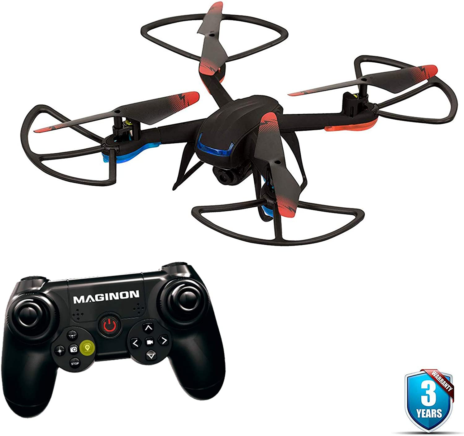 Maginon QC50S RC Quadcopter Drone Capture The Quality with 720P HD Camera and 360° Flip Ability   6Axis Gyroscope for Super Stable Flights   3 Flight Mode for Beginners to Experts